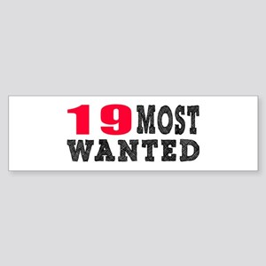 19 most wanted birthday designs Sticker (Bumper)