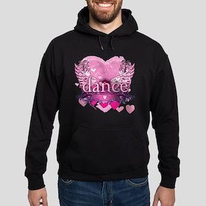 eat pray dance pink heart wings copy Hoodie (dark)