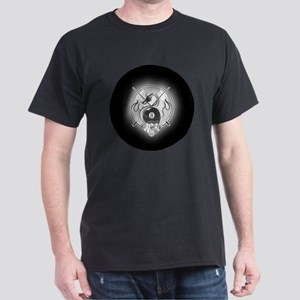 8-ball dragon Large round button Dark T-Shirt