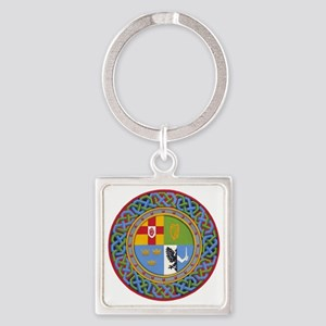 4 Provinces of Ireland Square Keychain