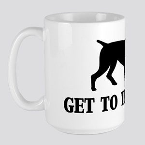 GET TO THE POINT RECTANGLE Large Mug