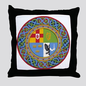 4 Provinces of Ireland Throw Pillow