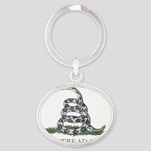 Dont Tread on Me Oval Keychain
