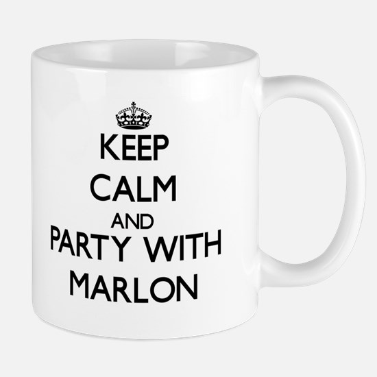 Keep Calm and Party with Marlon Mugs