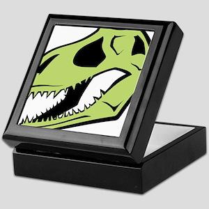Dinosaur_skull_green Keepsake Box