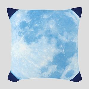 fullMoonBlueSB Woven Throw Pillow