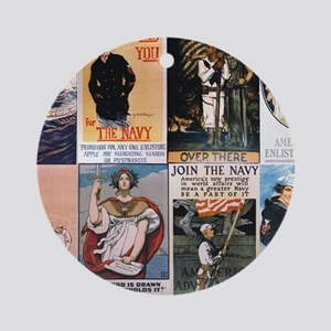 WWI navy posters Round Ornament