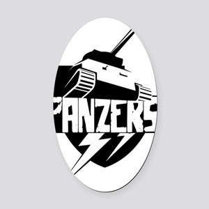 panzer Oval Car Magnet