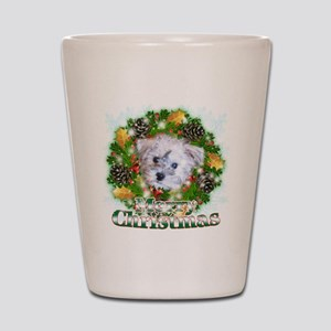 Merry Christmas Schnoodle Shot Glass