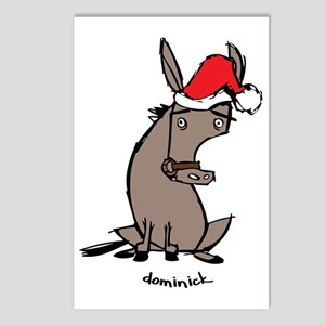 dunkycnnnnnnnnnnnolorbig postcards package of 8 - Dominic The Christmas Donkey