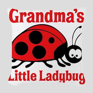 Ladybug Grandma Woven Throw Pillow