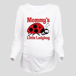 Ladybug Mommy Long Sleeve Maternity T-Shirt