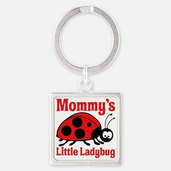Ladybug Mommy Square Keychain
