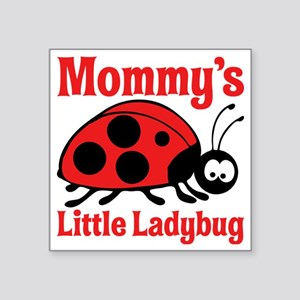 "Ladybug Mommy Square Sticker 3"" x 3"""
