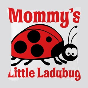 Ladybug Mommy Woven Throw Pillow
