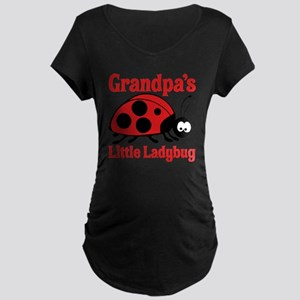 Ladybug Grandpa Maternity Dark T-Shirt
