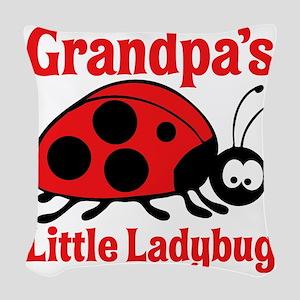 Ladybug Grandpa Woven Throw Pillow