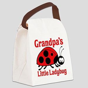 Ladybug Grandpa Canvas Lunch Bag