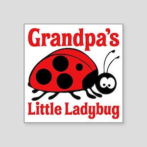"""Ladybug Grandpa Square Sticker 3"""" x 3"""""""