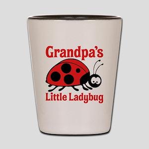 Ladybug Grandpa Shot Glass