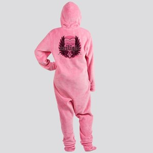twilight forever pink heart new cop Footed Pajamas