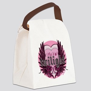 twilight forever pink heart new c Canvas Lunch Bag