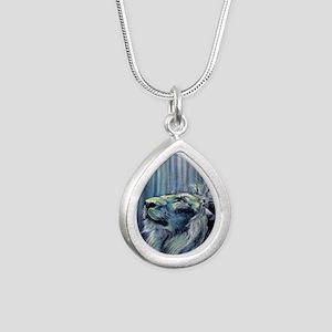 Illumination Silver Teardrop Necklace