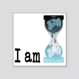 "I am wikileaks3 Square Sticker 3"" x 3"""