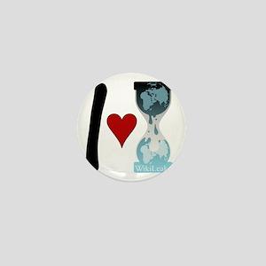 i heart wikileaks2 Mini Button