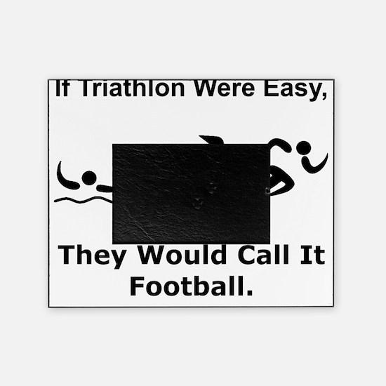 Triathlon Football Black Picture Frame