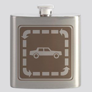 brown_interpretive_auto_trail_sign_real Flask