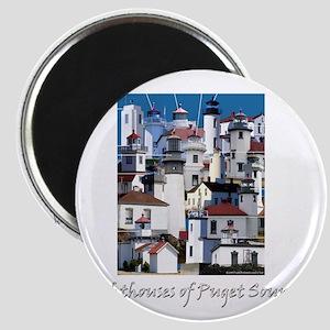 Puget Sound Dark 10x10 Magnet