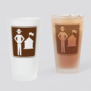 brown_ranger_station_sign_real Drinking Glass