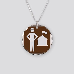 brown_ranger_station_sign_re Necklace Circle Charm