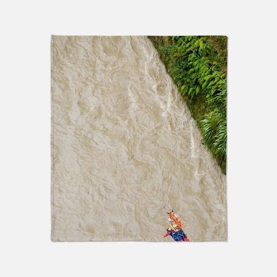 Flying Fox and Rangitikei River, Mok Throw Blanket