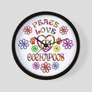 Peace Love Cockapoos Wall Clock