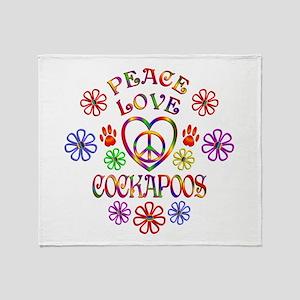 Peace Love Cockapoos Throw Blanket