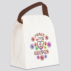 Peace Love Cockapoos Canvas Lunch Bag