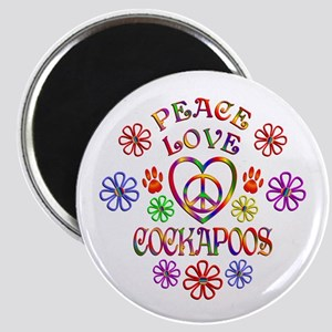 Peace Love Cockapoos Magnets