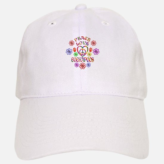 Peace Love Cockapoos Baseball Baseball Cap