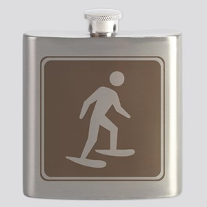 brown_snowshoeing_sign_real Flask