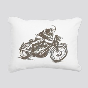 vintage cafe racer Rectangular Canvas Pillow