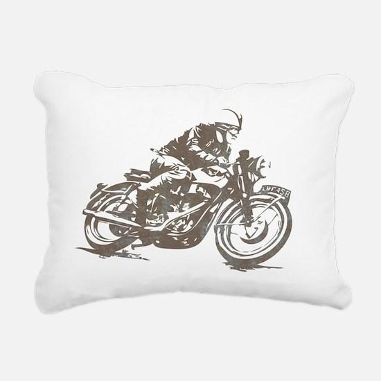 vintage cafe racer Rectangular Canvas Pillow