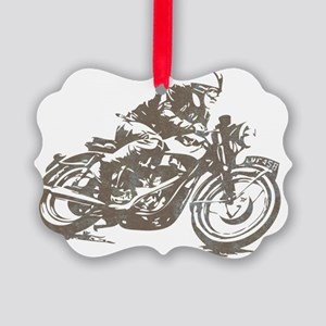 vintage cafe racer Picture Ornament