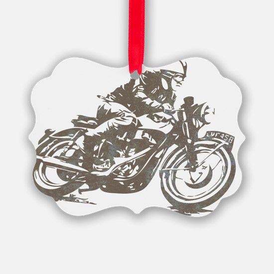 vintage cafe racer Ornament