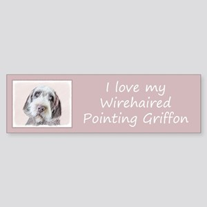 Wirehaired Pointing Griffon Sticker (Bumper)