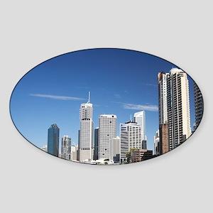 Riverside Promenade and Brisbane Ri Sticker (Oval)