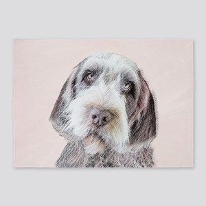 Wirehaired Pointing Griffon 5'x7'Area Rug