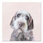 Wirehaired Pointing Grif Square Car Magnet 3