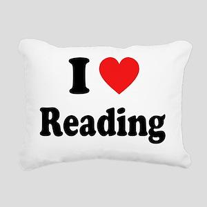 i heart reading Rectangular Canvas Pillow